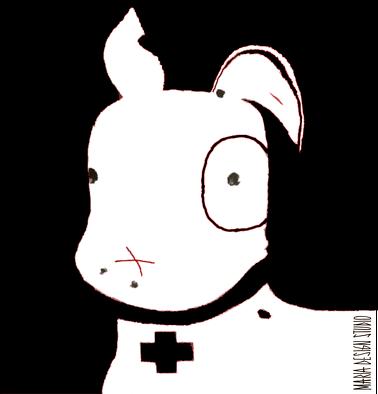 TShirt Pies Max B/W (M) Biała