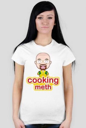 GeekWear - breaking bad cooking mama cooking meth - koszulka damska