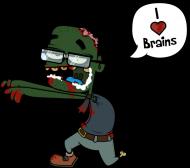 """Przypinka """"I love brains"""""""