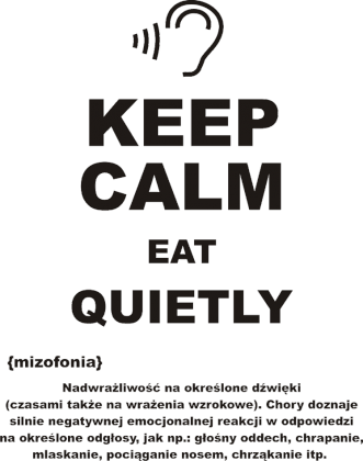 KEEP CALM EAT QUIETLY