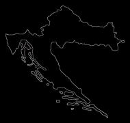 Damska koszulka Mapa Chorwacji