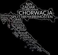 Damska koszulka Miasta i Wyspy Chorwacji