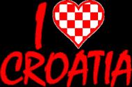 Koszulka I Love Croatia dla chłopców