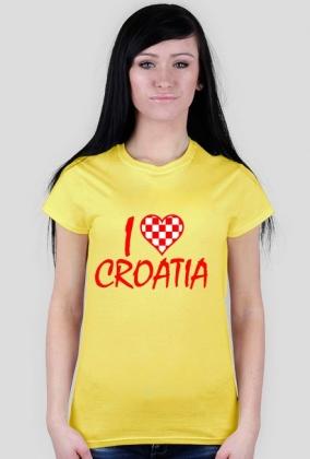 Damska koszulka I Love Croatia