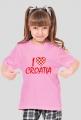 Koszulka I Love Croatia dla dziewczynek
