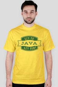 """Koszulka """"Czy to java czy sen?"""" - zielony napis"""