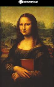 Bluza męska PiktoGrafiki - Mona Lisa (wersja czarna)