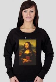 Bluza damska PiktoGrafiki - Mona Lisa (wersja czarna)