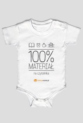 Body niemowlęce 100% materiał na czytelnika