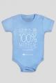 Body niemowlęce 100% materiał na czytelnika (kolor niebieski lub różowy)