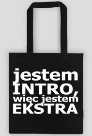 Torba Introwertyk - Jestem intro, więc jestem ekstra (czarna)