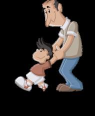 Podkladka pod mysz - tata i syn