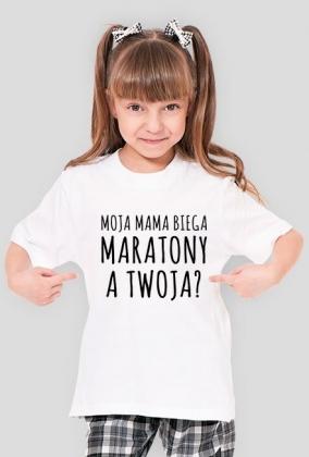 Moja mama biega maratony. A Twoja? (dziewczęca)