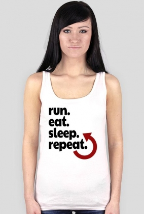 Koszulka biegowa damska. Plan dnia biegaczki.