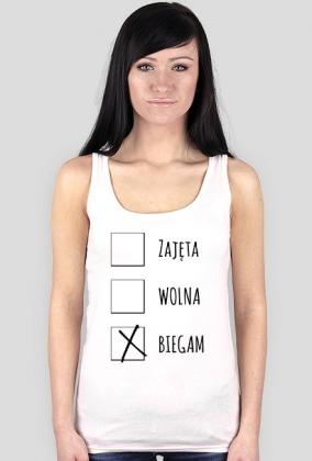 Koszulka biegaczki. Status związku.