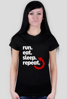 Koszulka biegaczki. Plan dnia.