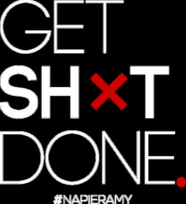 "Motywujaca koszulka - damska ""Get Shit Done"""