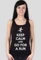 Koszulka dla biegaczki. Keep Calm.