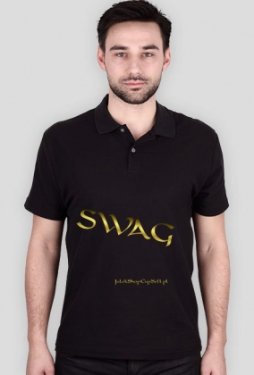 T-shirt z napisem SWAG.