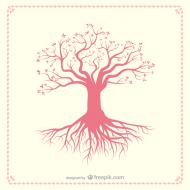 Różowe drzewo - biała