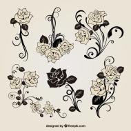 kwiatki - damska biała