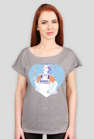 Queen of the kitchen - t-shirt szary damski - skosztuj.to