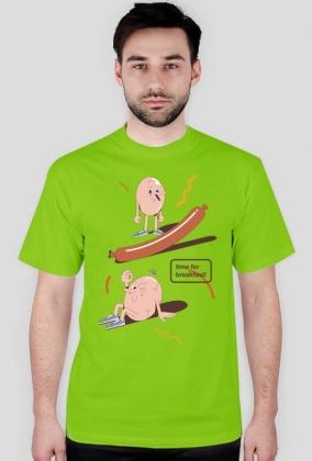 Time for breakfast - t-shirt ciemny zielony - skosztuj.to
