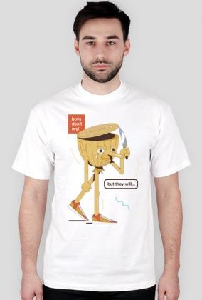 Boys don't cry - t-shirt biały - skosztuj.to