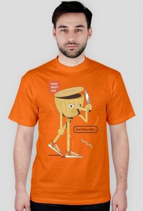 Boys don't cry - t-shirt błękitny - skosztuj.to
