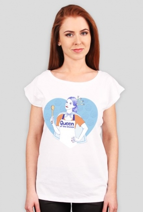 Queen of the kitchen - t-shirt szary damski - skosztuj.to