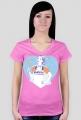 Queen of the kitchen - t-shirt różowy damski - skosztuj.to