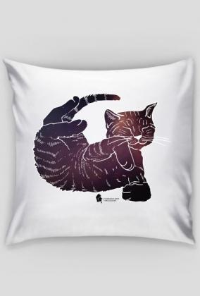 Poduszka - kotek w kosmos
