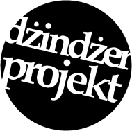 T-SHIRT męski DŻINDŻER PROJEKT czarne logo