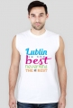 Lublin is the best nevermind the rest_t-shirt for sport_black&white_men