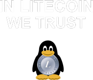 In Litecoin we trust (niebieska)
