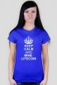 DAMSKA- keep calm and mine litecoin (niebieska)