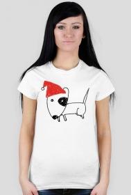 Damska świąteczna koszulka - biała