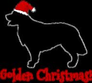 Świąteczna podkładka pod szklankę - Golden Retriever