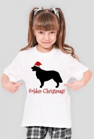 Dziewczęca świąteczna koszulka - Golden Retriever