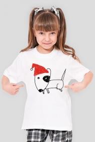 Dziewczęca świąteczna koszulka
