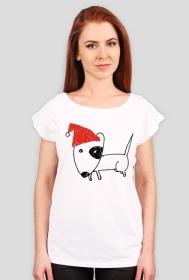 Damska świąteczna koszulka (wycięcie)