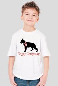 Chłopięca świąteczna koszulka - Owczarek Niemiecki
