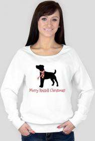 Damska świąteczna bluza - Russell Terrier