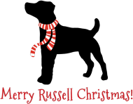 Świąteczna poduszka - Russell Terrierów
