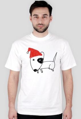 Męska świąteczna koszulka - biała