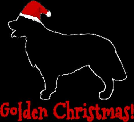 Damska świąteczna koszulka - biała - Golden Retriever
