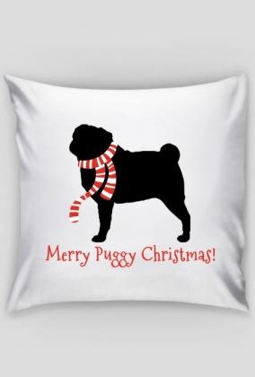 Świąteczna poduszka - Mops