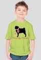 Chłopięca świąteczna koszulka - Mops