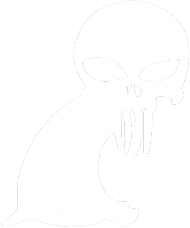 kozioł punisher - man standard biały symbol