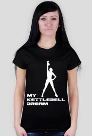 Koszulka na siłownię my kettlebell dream/biały